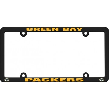 Green Bay Packers Black Plastic License Plate Frame