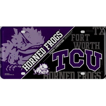 TCU Texas Christian University Horned Frogs Metal License Plate