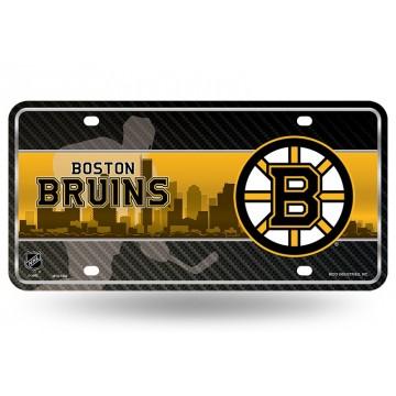Boston Bruins Metal License Plate