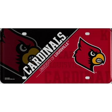 Louisville Cardinals Metal License Plate