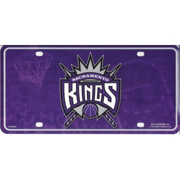 Sacramento Kings Metal License Plate