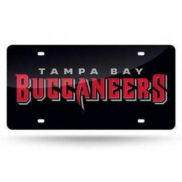 Tampa Bay Buccaneers Black Laser License Plate