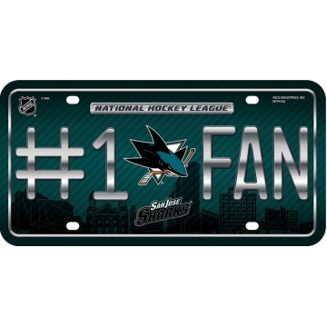 San Jose Sharks #1 Fan License Plate