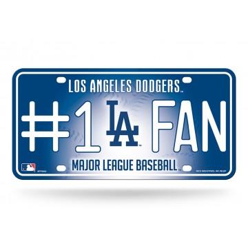 Los Angeles Dodgers #1 Fan License Plate