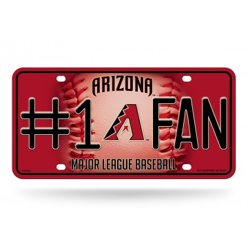 Arizona Diamondback's #1 Fan Metal License Plate