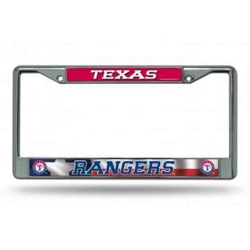 Texas Rangers Chrome License Plate Frame
