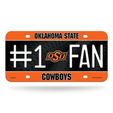 Oklahoma State Cowboys #1 Fan Metal License Plate