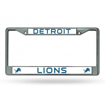 Detroit Lions Chrome License Plate Frame