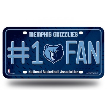 Memphis Grizzlies #1 Fan License Plate