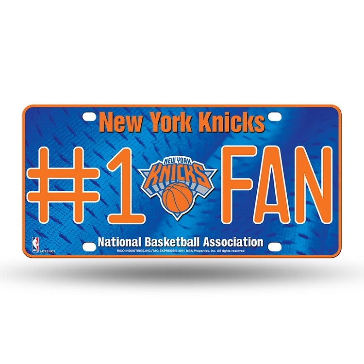 New York Knicks #1 Fan License Plate