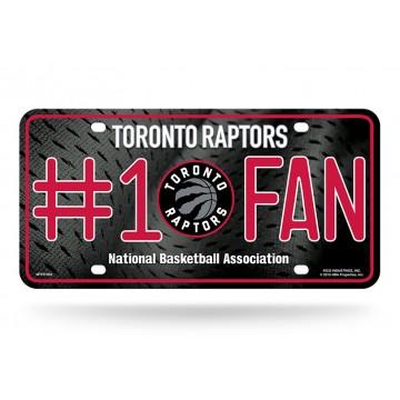 Toronto Raptors #1 Fan Metal License Plate
