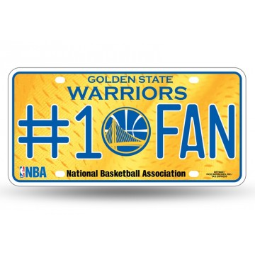 Golden State Warriors #1 Fan License Plate