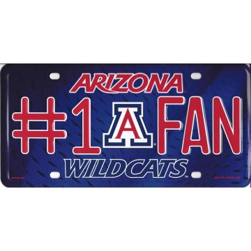 Arizona Wildcats #1 Fan License Plate