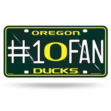 Oregon Ducks #1 Fan Metal License Plate