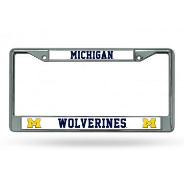 Michigan Wolverines Chrome License Plate Frame