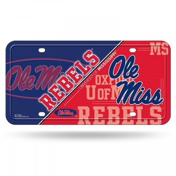 Ole Miss Mississippi Rebels Metal License Plate