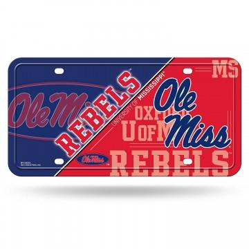 Ole Miss Mississippi Rebels Metal License Plate