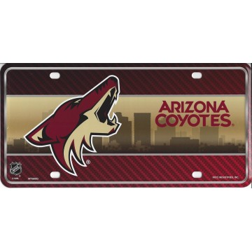 Arizona Coyotes Metal License Plate