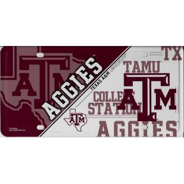 Texas A&M Aggies Metal License Plate