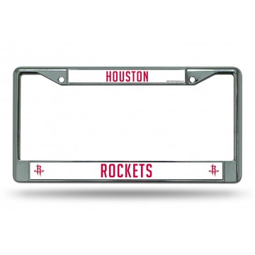 Houston Rockets Chrome License Plate Frame
