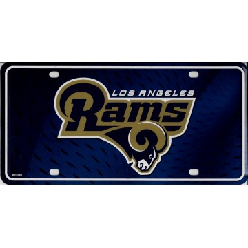 Los Angeles Rams Metal License Plate
