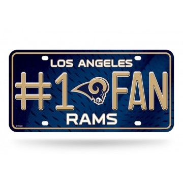 Los Angeles Rams #1 Fan License Plate