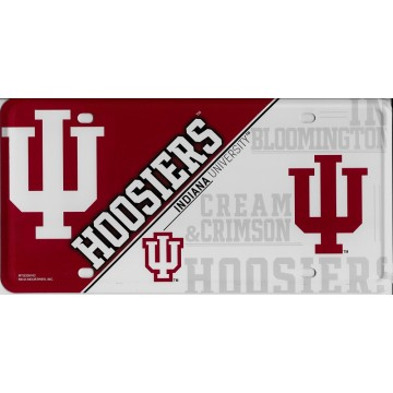 Indiana Hoosiers Metal License Plate