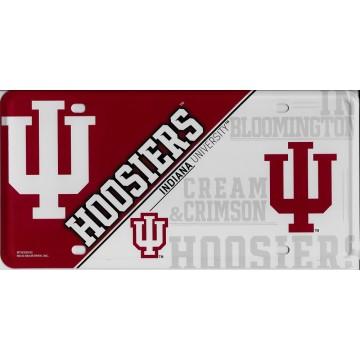 Indiana Hoosiers Metal License Plate