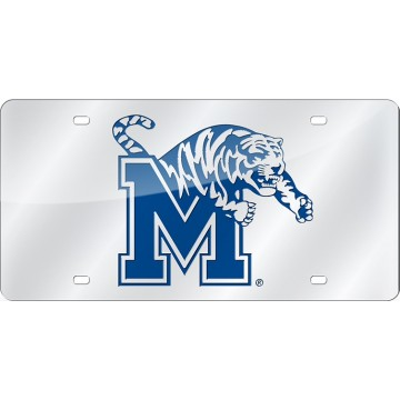 Memphis State Tigers Silver Laser License Plate
