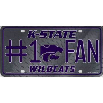 Kansas State Wildcats #1 Fan Metal License Plate