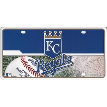 Kansas City Royals Metal License Plate