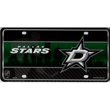 Dallas Stars Metal License Plate