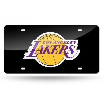 Los Angeles Lakers Black Laser License Plate