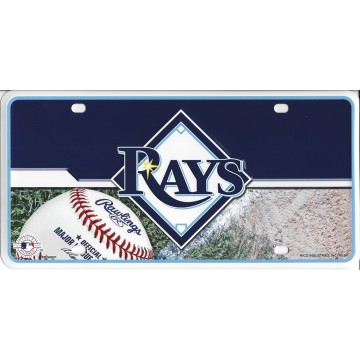 Tampa Bay Rays Metal License Plate