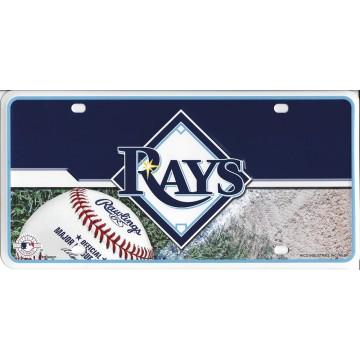 Tampa Bay Rays Metal License Plate