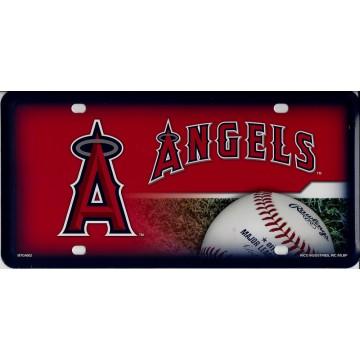 Anaheim Angels Metal License Plate
