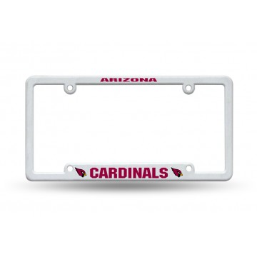 Arizona Cardinals White Plastic License Plate Frame