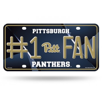 Pittsburgh Panthers #1 Fan Metal License Plate