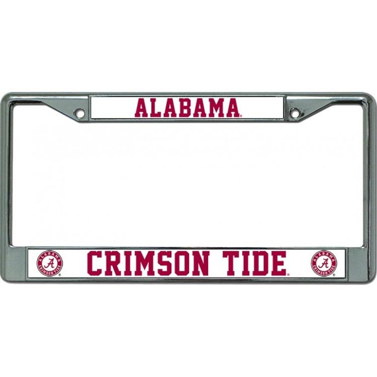 Alabama Crimson Tide Chrome License Plate Frame