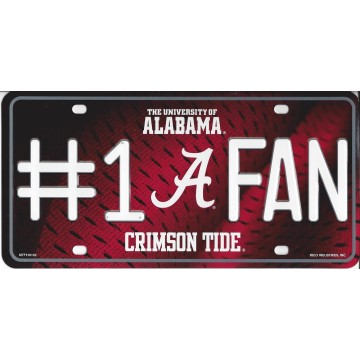Alabama Crimson Tide #1 Fan License Plate