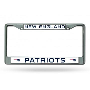 New England Patriots Chrome License Plate Frame