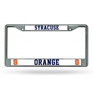 Syracuse Chrome License Plate Frame