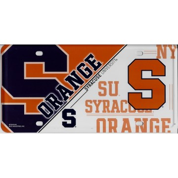 Syracuse Orange Metal License Plate