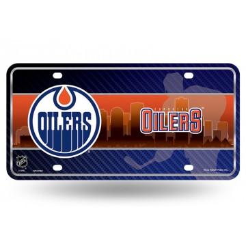 Edmonton Oilers Metal License Plate