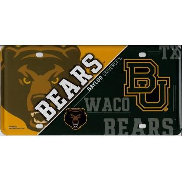 Baylor Bears Metal License Plate