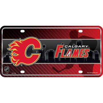 Calgary Flames Metal License Plate
