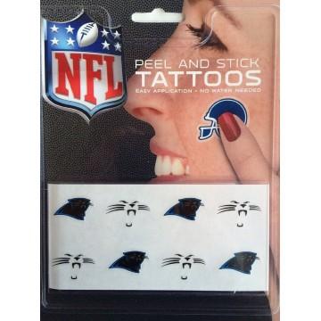 Carolina Panthers 8-PC Peel And Stick Tattoo Set