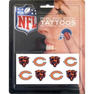 Chicago Bears 8-PC Peel And Stick Tattoo Set