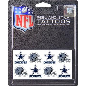 Dallas Cowboys 8-PC Peel And Stick Tattoo Set