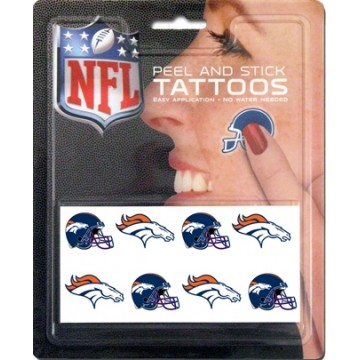 Denver Broncos 8-PC Peel And Stick Tattoo Set
